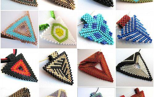 Схемы плетения кулонов из бисера i