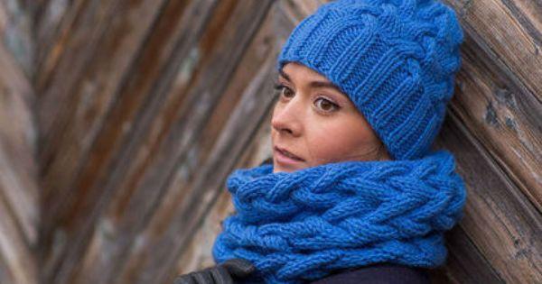 Вязанная шапка шарф труба