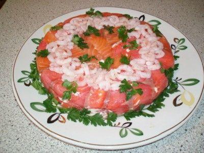Салат с из рыбы