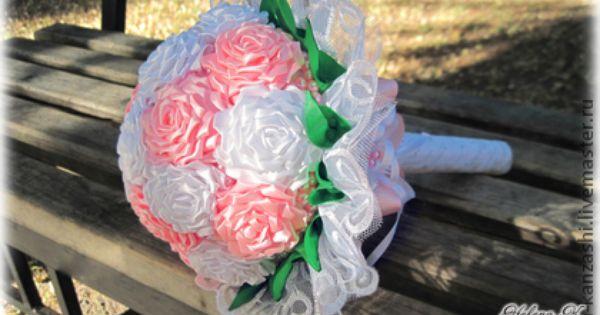 """Свадебный букет канзаши """"Свадьба роз"""" - свадьба,невеста,свадебный букет belleza Pinterest"""