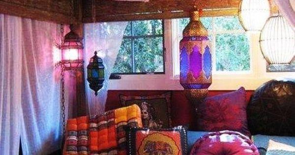 Bohemian and feminine attic