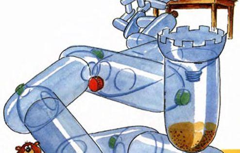 Лабиринт из бутылок для хомяка своими руками