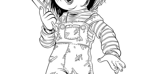 Chucky Doll Coloring Pages Printable Sketch Coloring Page