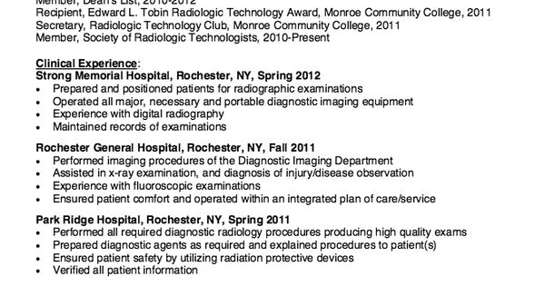 Sample Essay 2 - McGraw Hill Higher Education resume and rad tech