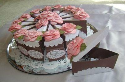 Торт из бумаги оформление