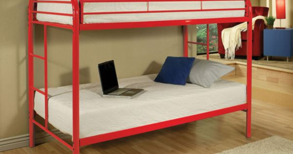 Futon Bunk Bed Twinfull Navy  Further Eclipse Black Metal