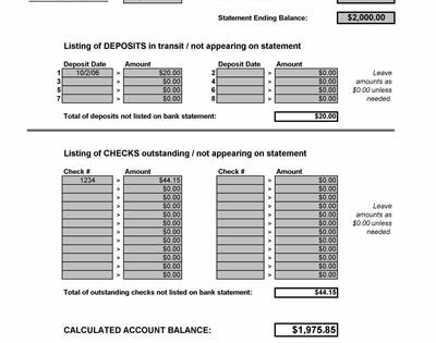 excel banking spreadsheet template .