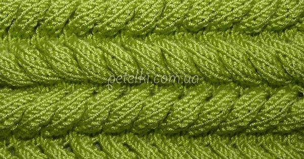 Вязание резинки колосок