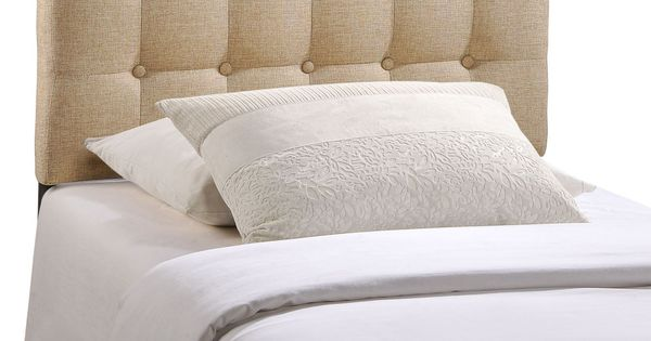 Emily Twin Fabric Headboard In Beige Products Fabrics And Fabric