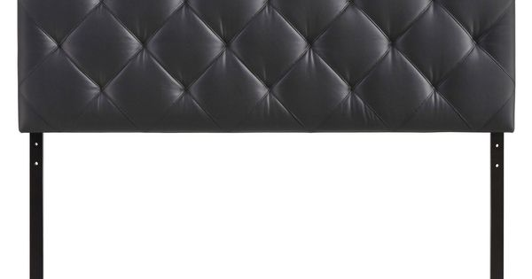 Theodore Queen Vinyl Headboard In Black Vinyls Products And Black