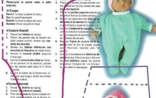 Выкройки пупсов младенцев