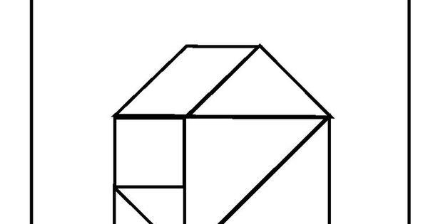 House Tangrams Printable Tangram Pinterest Math School Preschool Education