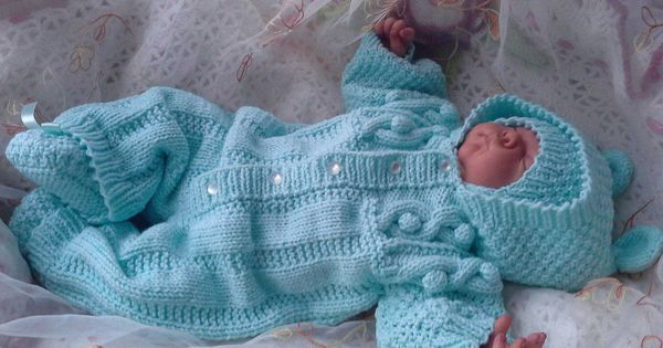 Вязанные детские вещи для новорожденных