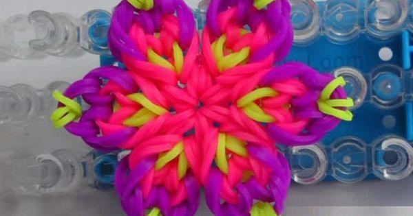 Видео плетение из резиночек цветок
