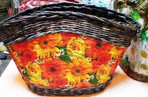 Плетение овальной крышки