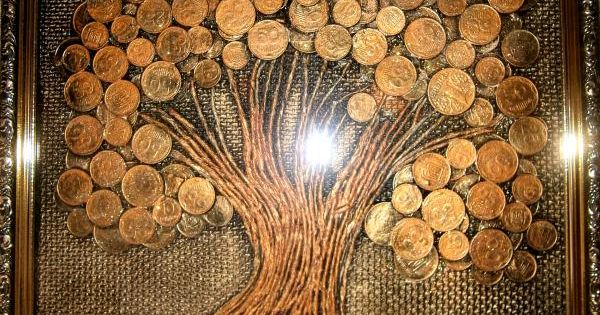 Дерево из монет картина своими руками