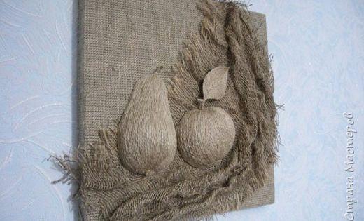 Картины из мешковины и шпагата