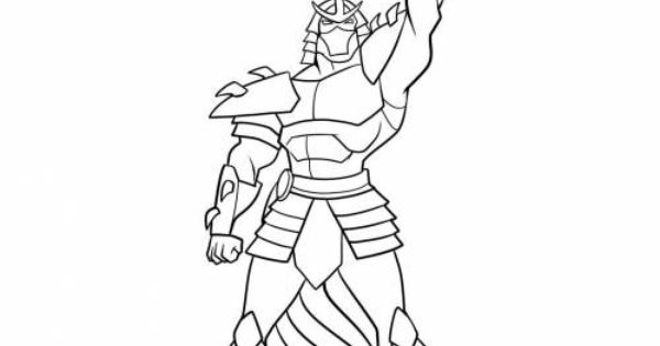 tmnt shredder coloring pages sketch coloring page
