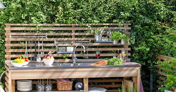 Летняя кухня своими руками очень простая конструкции с
