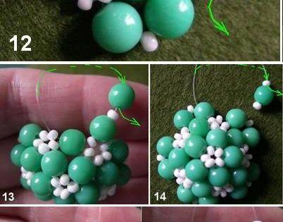 Как сделать шар из бусин