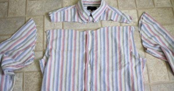 Шьем сарафан-блузу из старой рубашки.  Перешиваем мужскую рубашку в блузу.  Платье из блузы...