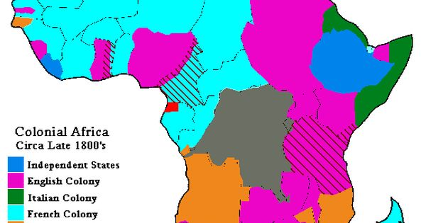 Map Of Colonial Africa Circa Late 1800s Information