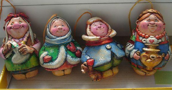 Елочные игрушки из папье маше своими руками фото