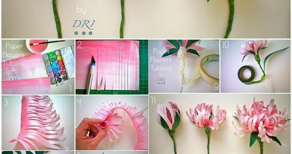 Уроки цветок из бумаги