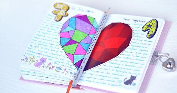 как сделать личный дневник своими руками из тетради для девочек поэтапно - В помощь Самоделкину