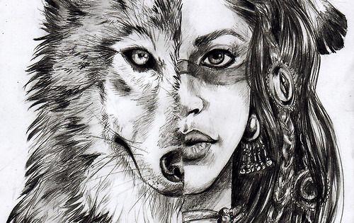 Волк рисунок карандашом в картинках