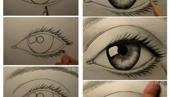 Как нарисовать глаз пошаговое