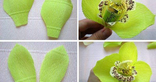 Букет своими руками из конфет из гофрированной бумаги своими руками