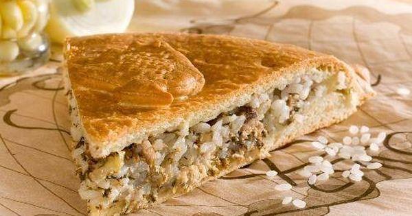 Рыбный пирог с сайрой и рисом рецепт с