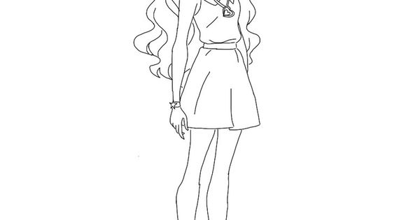 Lolirock Coloring Pages Sketch Page