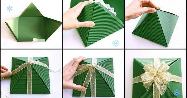 Делаем подарочные упаковки из бумаги своими руками