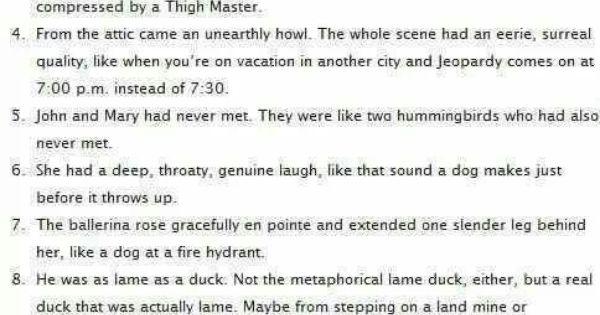 worst analogies essay