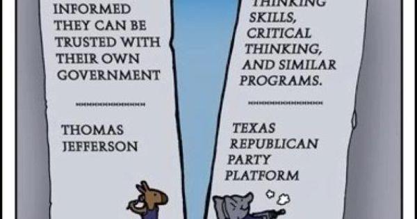 texas gop critical thinking