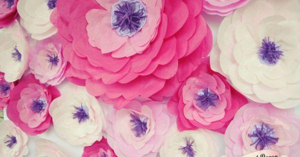 Цветы из бумаги тишью