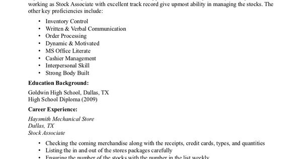 list high school on resume