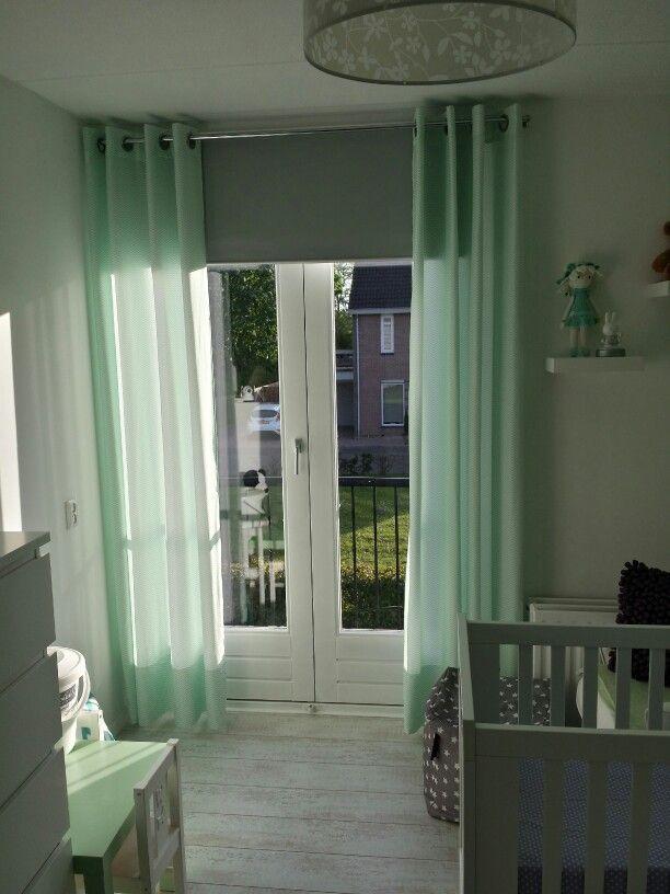 Meer dan 1000 idee n over babykamer gordijnen op pinterest for Gordijnen babykamer mintgroen