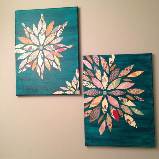 DIY: Scrapbook Paper Flower Wall Art | Home Decor | Pinterest ...