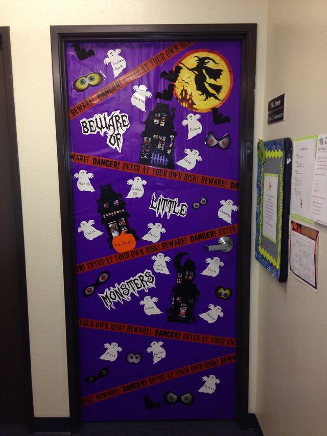 Halloween Decorations Classroom Door : Halloween classroom door decorations and