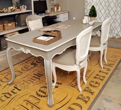 Mesa de comedor extensible de estilo provenzal Colección Arles
