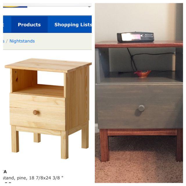 Nightstands #Ikea #Tarva #BenjaminMoore #Paint #Newburyport #Blue