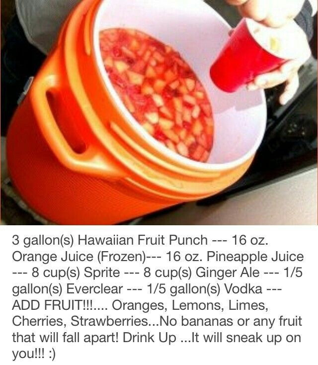 Jungle Juice versions (from back in my younger wild days. LOL ...