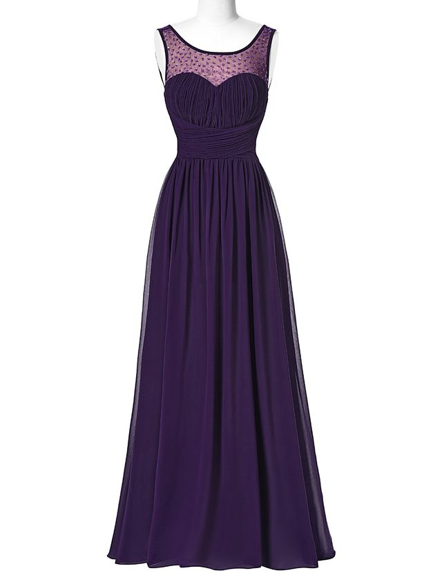 Prom Dresses,Evening Dress,Party Dr - Prom Dresses,Evening Dress,Party Dresses,PROM dress sleeveless 2017 back to the long chiffon dress luxuriant adornment