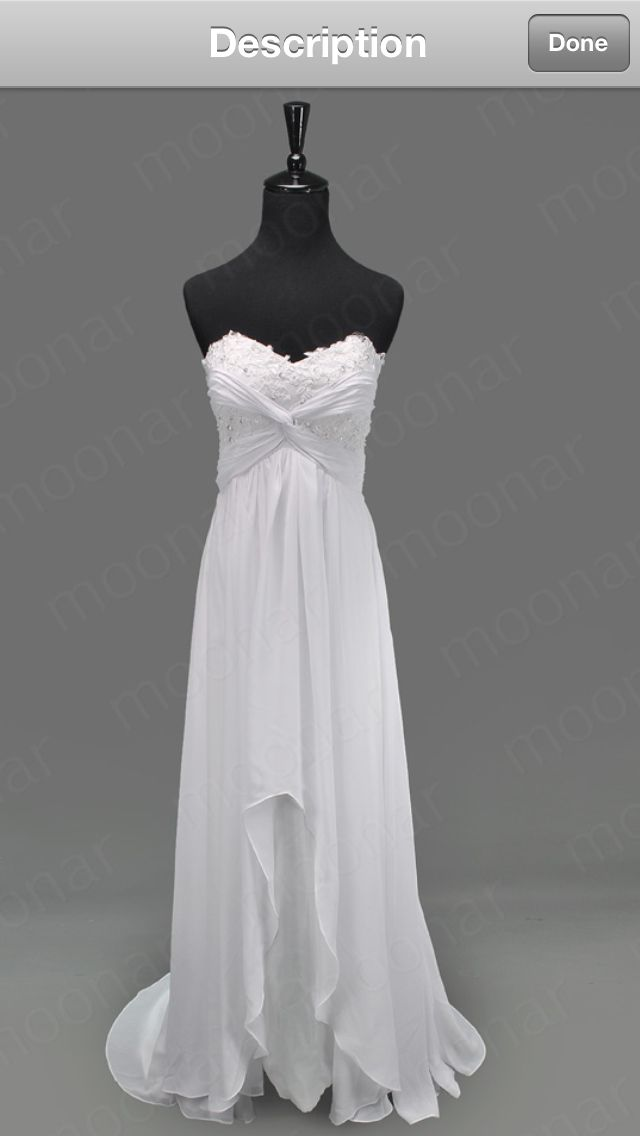 Vow renewal dress i like the idea of a high low dress for Dresses to renew wedding vows