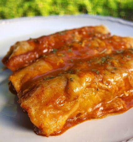 Beef and Bean Enchiladas - Beef and Bean Enchiladas