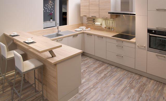 Meuble de cuisine DELINIA, composition type Galaxy, blanc blanc n°0 - deco maison cuisine ouverte