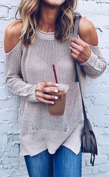 100 Fall Outfits to Wear Now - #fall #fashion / knit + denim